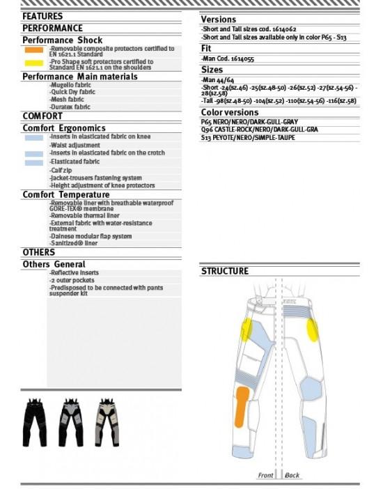 D-EXPLORER GORE-TEX PANTS - PEYOTE/BLACK/SIMPLE-TAUPE