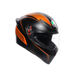 K1 AGV E2205 MULTI - WARMUP MATT BLACK/ORANGE