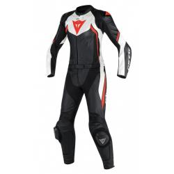 AVRO D2 2 PCS LADY SUIT - BLACK/WHITE/RED-FLUO