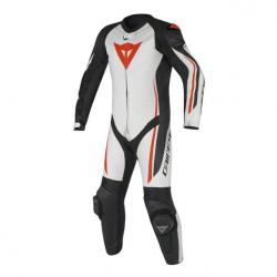 ASSEN 1 PC PERF. SUIT - WHITE/BLACK/RED-FLUO