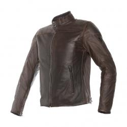 MIKE LEATHER JACKET - DARK BROWN