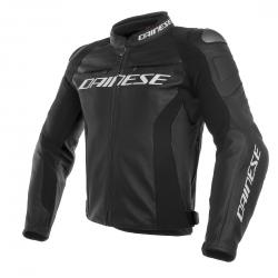 RACING 3 LEATHER JACKET - BLACK/BLACK/BLACK