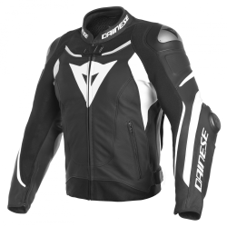 SUPER SPEED 3 LEATHER JACKET - BLACK/WHITE/WHITE