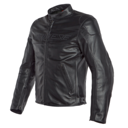 BARDO LEATHER JACKET - BLACK