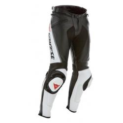 DELTA PRO C2 LEATHER PANTS - BLACK/WHITE