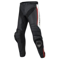 MISANO LEATHER PANTS - BLACK/WHITE/RED-FLUO