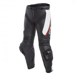 DELTA 3 LEATHER PANTS - BLACK/WHITE/RED