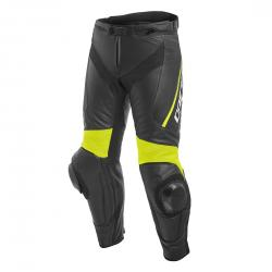 DELTA 3 LEATHER PANTS - BLACK/BLACK/FLUO-YELLOW