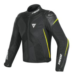 SUPER RIDER D-DRY JACKET - BLACK/BLACK/FLUO-YELLOW