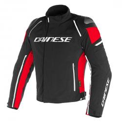 RACING 3 D-DRY JACKET - BLACK/BLACK/RED