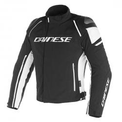 RACING 3 D-DRY JACKET - BLACK/BLACK/WHITE
