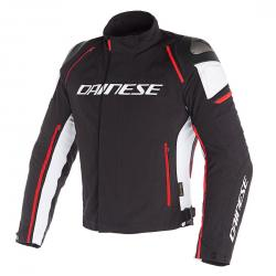 RACING 3 D-DRY JACKET - BLACK/WHITE/FLUO-RED