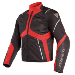 SAURIS D-DRY JACKET - BLACK/TOUR-RED/LIGHT-GRAY