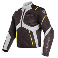 SAURIS D-DRY JACKET - BLACK/QUARRY/FLUO-YELLOW