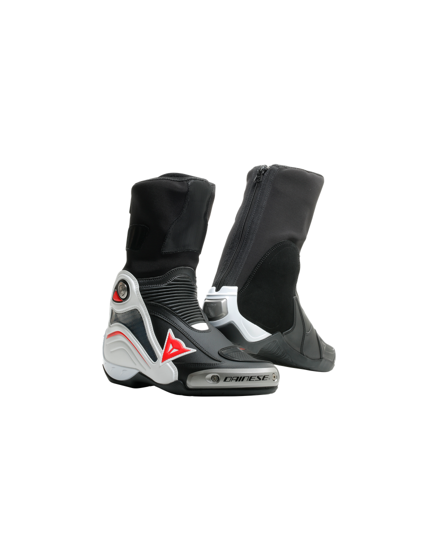 Buty Motocyklowe Dainese AXIAL D1 BOOTS - BLACK/WHITE/RED-LAVA