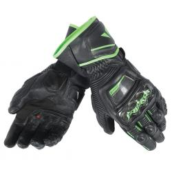 DRUID D1 LONG GLOVES - BLACK/BLACK/FLUO-GREEN