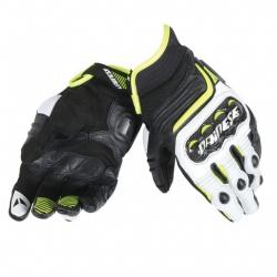CARBON D1 SHORT GLOVES - BLACK/WHITE/FLUO-YELLOW