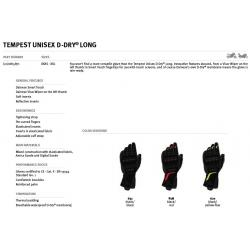 Rękawice Motocyklowe Dainese TEMPEST UNISEX D-DRY LONG GLOVES - BLACK/RED