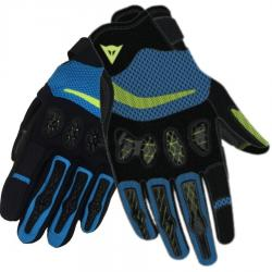 AEROX UNISEX GLOVES - BLACK/FIRE-BLUE/FLUO-YELLOW