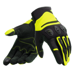 AEROX UNISEX GLOVES - BLACK/FLUO-YELLOW
