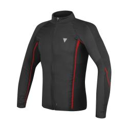 D-CORE NO-WIND THERMO TEE LS - BLACK/RED