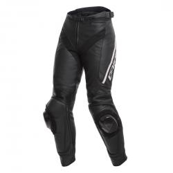 DELTA 3 LADY LEATHER PANTS - BLACK/BLACK/WHITE