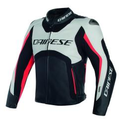 MISANO D-AIR JACKET - WHITE/BLACK/RED-FLUO