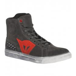 STREET BIKER LADY D-WP SHOES - CARBON-DARK/RED