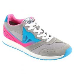 PADDOCK LADY SHOES - LIGHT-GRAY/FUCHSIA/FLUO-BLUE