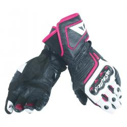 CARBON D1 LONG LADY GLOVES - BLACK/WHITE/FUCHSIA