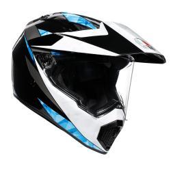 Kask motocyklowy AGV AX9 - NORTH BLACK/WHITE/CYAN