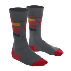 HG HALLERBOS SOCKS - DARK-GRAY/RED