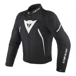 AVRO D2 TEX JACKET - BLACK/BLACK/WHITE