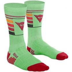 HG HALLERBOS SOCKS - LIGHT-GREEN/RED