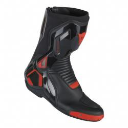 COURSE D1 OUT BOOTS - BLACK/RED-FLUO
