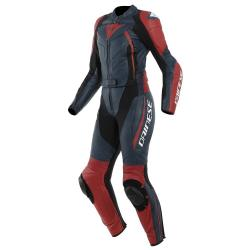 AVRO D2 2 PCS LADY SUIT - BLACK-IRIS/HAUTE-RED
