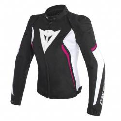 AVRO D2 TEX LADY JACKET - BLACK/WHITE/FUXIA