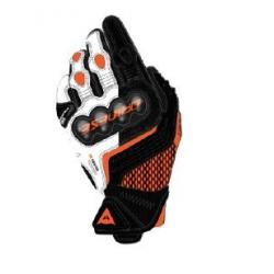 CARBON 3 SHORT GLOVES - BLACK/WHITE/FLAME-ORANGE