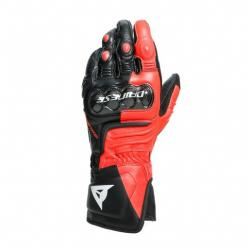 CARBON 3 LONG GLOVES - BLACK/FLUO-RED/WHITE