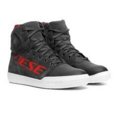 YORK D-WP SHOES - DARK-CARBON/RED