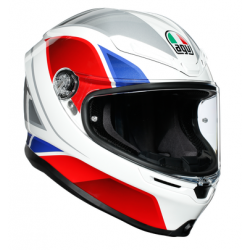 K6 AGV ECE MULTI MPLK - HYPHEN WHITE/RED/BLUE