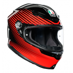 K6 AGV ECE MULTI MPLK - RUSH BLACK/RED
