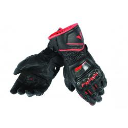 DRUID D1 LONG GLOVES - BLACK/BLACK/FLUO-RED