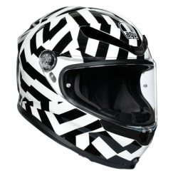 K6 AGV ECE MULTI MPLK - SECRET BLACK/WHITE