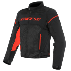 AIR FRAME D1 TEX JACKET - BLACK/BLACK/RED-FLUO