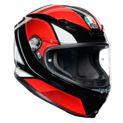 K6 AGV ECE MULTI MPLK - HYPHEN BLACK/RED/WHITE