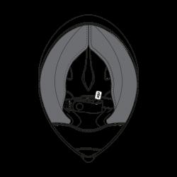 AGV CHEEK PADS PISTA GP R (ML) - BLACK