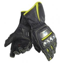 FULL METAL D1 GLOVES - BLACK/YELLOW-FLUO