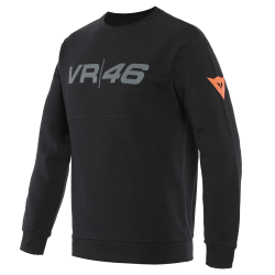 VR46 TEAM SWEATSHIRT - BLACK/FLUO-YELLOW
