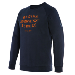 PADDOCK SWEATSHIRT - BLACK-IRIS/FLAME-ORANGE
